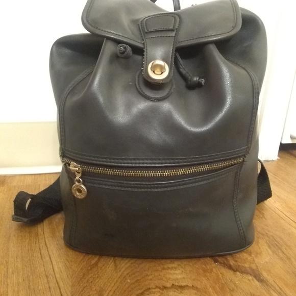 Coach Handbags - Coach Black leather backpack